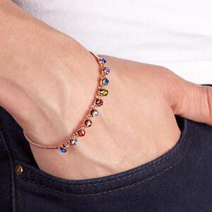 Lesara Armband mit Kristallen 18K vergoldet
