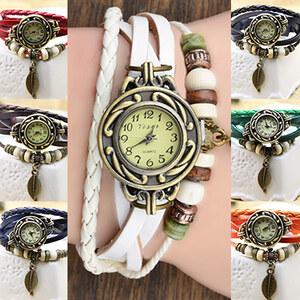 Lesara Vintage-Armbanduhr - Weiß