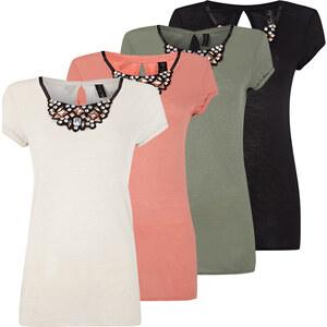 Lesara T-Shirt mit Statement-Kette - Grün - XS