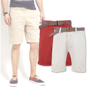 Lesara Chino-Shorts mit buntem Gürtel - 29