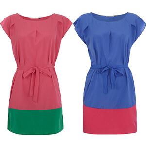 Lesara Lang geschnittene Plus Size Bluse mit Schleife - Pink - 48