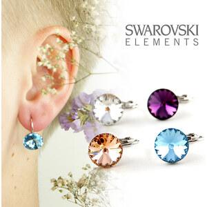Ohrringe mit farbigen Swarovski Elements - Klar