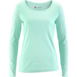 bpc bonprix collection Rundhals-Shirt Langarm in grün für Damen von bonprix