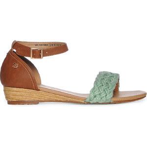 Wrangler Footwear Vela Sandal Damen 41 grün/cognac