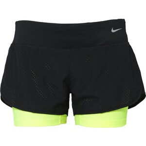 Nike Performance 2IN1 kurze Sporthose black/volt/reflective silver
