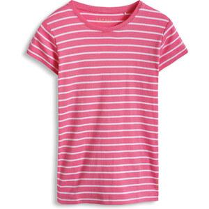 Esprit T-shirt côtelé rayé 100 % coton bio