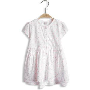 Esprit Robe en coton à motif tissé, couleur fluo