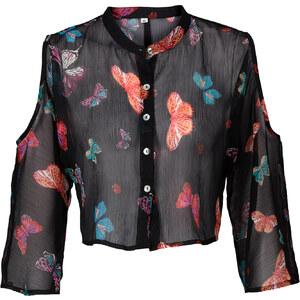 RAINBOW Bluse halber Arm in schwarz von bonprix