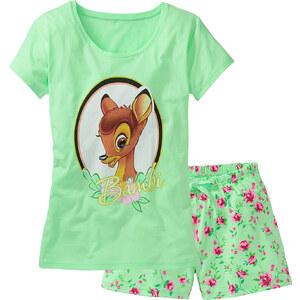 Disney Shorty Bambi kurzer Arm in grün für Damen von bonprix