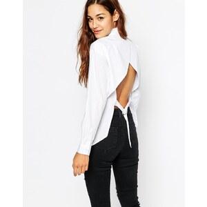 ASOS - Weiße Bluse mit Rückenausschnitt