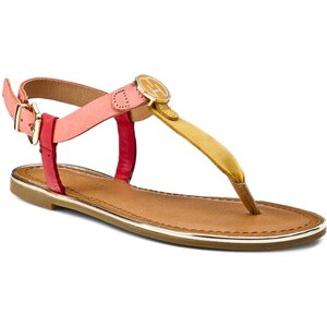 Zehentrenner TOMMY HILFIGER - Julia 26A FW56818685 Burnt Coral/Baked Apple/Mineral Yellow 947