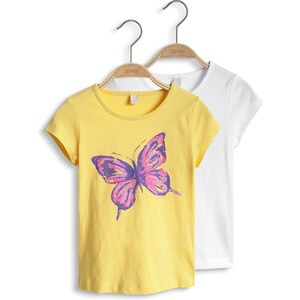 Esprit Lot de 2 : t-shirt imprimé en jersey de coton