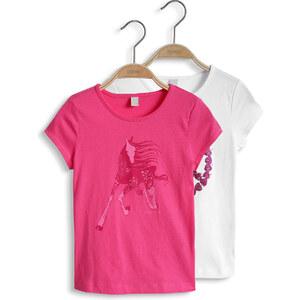 Esprit Lot de 2 : t-shirt imprimé, jersey coton