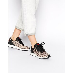 adidas Brown - ZX Flux - Turnschuhe in Animalprint - Braunes Leopardenmuster