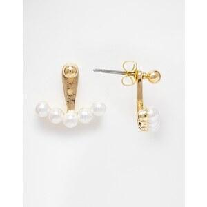 ASOS - Boucles d'oreilles balanciers ornées de perles multicolores - Doré