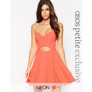 ASOS PETITE - Mini robe en jacquard avec découpe - Rose
