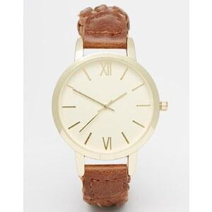 ASOS - Uhr mit geflochtenem Armband - Braun