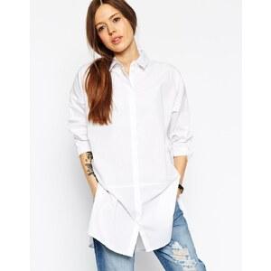 ASOS Premium - Übergroßes, weißes Hemd - Weiß