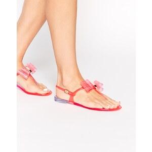 Miss KG - Darla - Flache Jelly-Sandalen mit rosa Schleife
