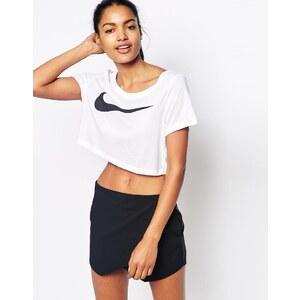 Nike - Swoosh - Kurzes T-Shirt - Weiß