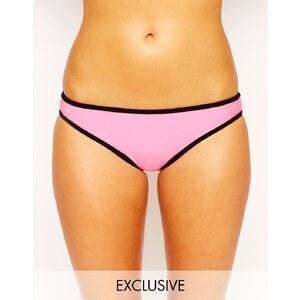 South Beach - Mix and Match - Hüft-Bikinihose - Ausgebleichtes Neonrosa