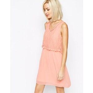 Vero Moda - Kleid mit Spitze - Rose