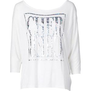 RAINBOW T-shirt manches chauve-souris blanc femme - bonprix
