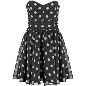 Swing Cocktailkleid / festliches Kleid schwarz/cremeweiß