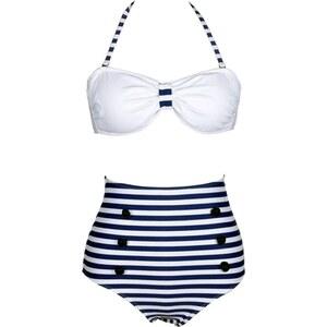 Beautys love Maillot de bain 2 pièces - blanc et bleu