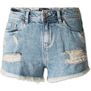 C&A Damen High-Waist-Shorts in hellblau