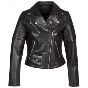 Redskins Veste Blouson en cuir Perfecto Marbri Noir