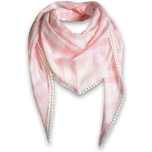 Esprit Foulard triangulaire à carreaux, pur coton