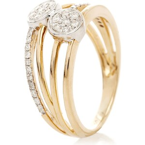 Le Diamantaire Bague Coppia en or jaune 375/1000 - avec diamants 0,23ct