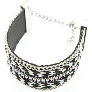 Kiabi Bracelet manchette tresses et perles fantaisie