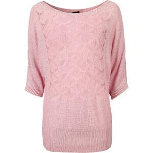 BODYFLIRT Strickpullover in rosa für Damen von bonprix