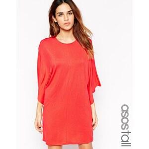 ASOS TALL - T-Shirtkleid mit Kimonoärmeln - Rot