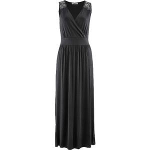 bpc bonprix collection Shirtkleid ohne Ärmel in schwarz (V-Ausschnitt) von bonprix