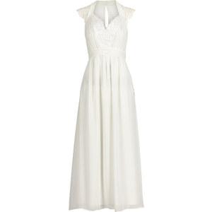 BODYFLIRT Kleid ohne Ärmel in weiß (V-Ausschnitt) von bonprix