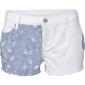 RAINBOW Jeansshorts in weiß für Damen von bonprix