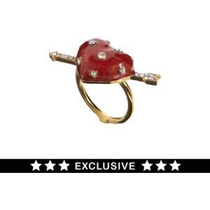 Bill Skinner Exclusive For ASOS Enamel Heart Ring