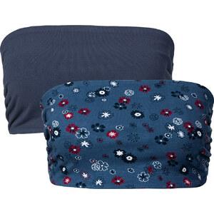 RAINBOW Bandeaux-Tops (2er-Pack) ohne Ärmel in blau für Damen von bonprix