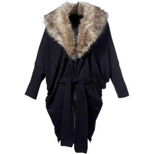 Veste en maille noir manches 3/4 femme - bonprix