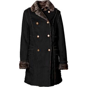 BODYFLIRT Manteau en simili daim noir manches longues femme - bonprix