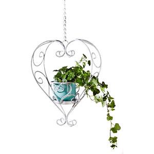 bpc living Pot de fleurs suspendu C?ur blanc maison - bonprix