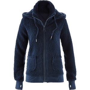 bpc bonprix collection Veste en polaire peluche bleu manches longues femme - bonprix