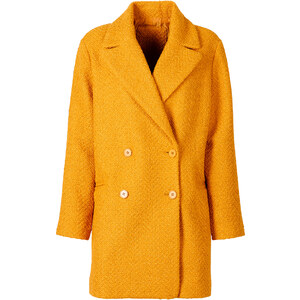 RAINBOW Manteau court oversize orange manches longues femme - bonprix