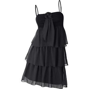 BODYFLIRT Robe matière T-shirt noire sans manches femme - bonprix