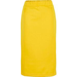 BODYFLIRT Jupe matière T-shirt jaune femme - bonprix
