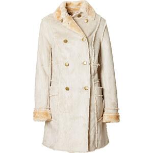 BODYFLIRT Manteau en synthétique imitation daim beige manches longues femme - bonprix