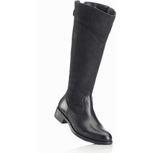 bpc bonprix collection Bottes en cuir noir chaussures & accessoires - bonprix